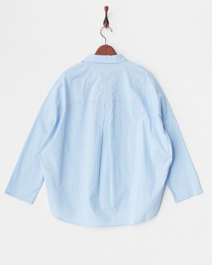 サックスブルー  スキッパーシャツ見る
