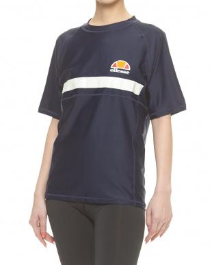 ネイビーブルー  ラッシュTシャツ|MEN見る