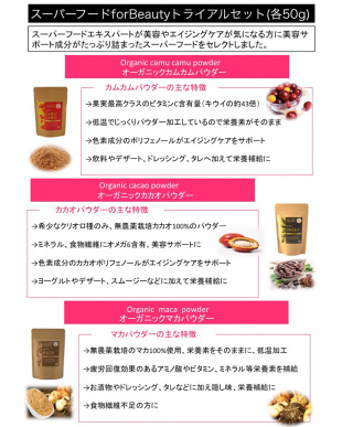 スーパーフード for Beauty トライアルセット見る