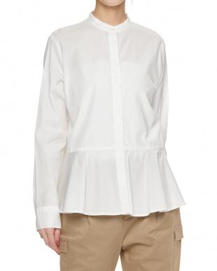 WHT FRペプラムスタンドシャツ見る