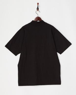 BLACK MOCKTEE リブ衿Tシャツ見る