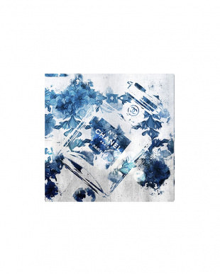 BLUE FLOWER SCENT 109.2×109.2cm見る
