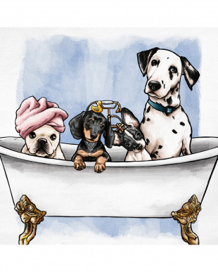 Pets In The Tub 83.8×83.8cm見る