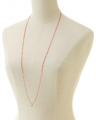 COR LONG BEADS NECKLACE見る
