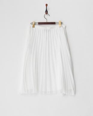 ホワイト シアープリーツスカート見る