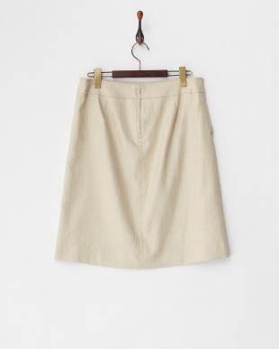 ベージュ スラブオックススカート見る