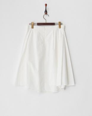 ホワイト ストレッチタイプライタースカート見る