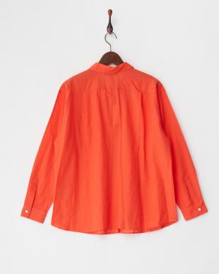 オレンジ系  綿麻フォレスタローンシャツ見る