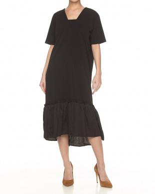 ブラック  TIERED DRESS見る