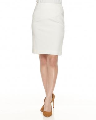 オフホワイト エレメントピケスカート見る