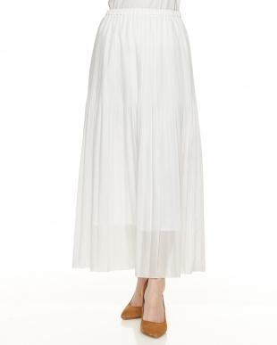 ホワイト Hスパンローンビンテージスカート見る
