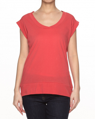 60A ROSE CORAL Scoop Neck Top KNIT見る