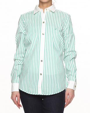 3GZ GREEN BAY ストライプ Yarn Dyed Fabric WOVEN SHIRT見る