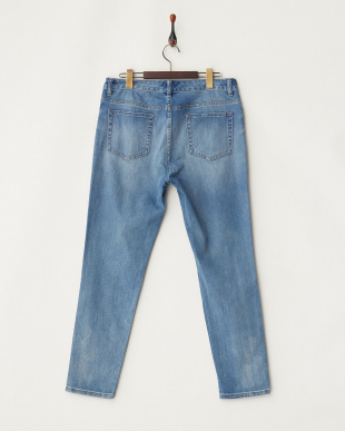 SOFT BLUE WASH ダメージ加工 Five Pocket JEANS見る