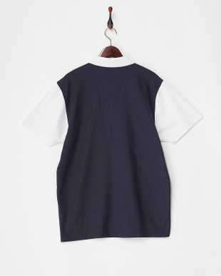 NAVY  切り替え Polo KNIT見る