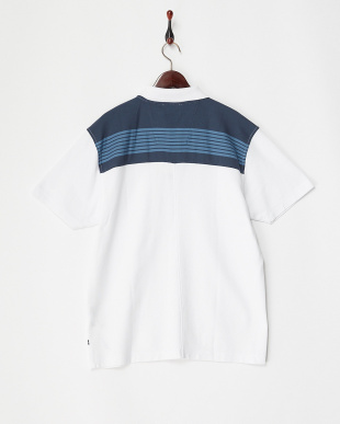 BRIGHT WHITE バックヨーク切り替え Polo KNIT見る