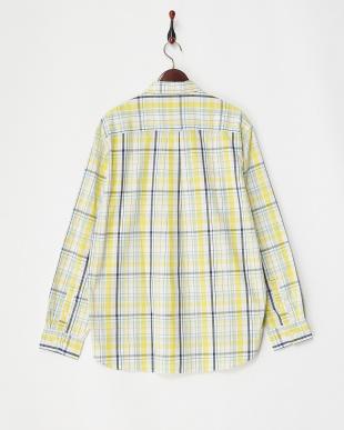 JIG BOX YELLOW  ガジェット切り替え Yarn Dyed Fabric Woven L/S Shirt見る