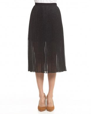 BLACK ラメプリーツスカート見る