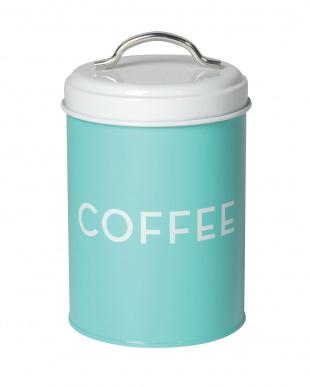 ターコイズCOFFEE&レッドTEA ストレージ缶 2個セット見る