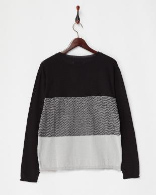 ブラック  Linen Blend Exchenge Knit見る