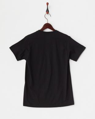 ブラック  クルーネックポケットTシャツ見る