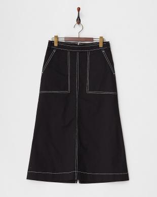 ブラック  ステッチスカート見る