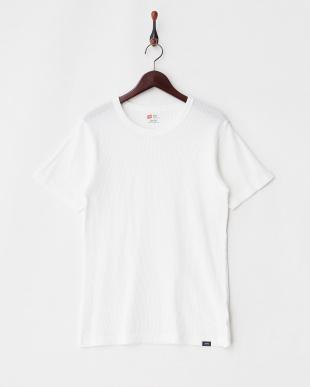 ホワイト  ワッフルTシャツ見る