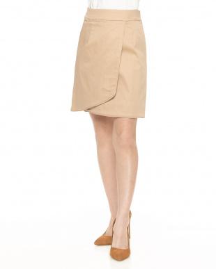 BGE サテンストレッチラップタイトスカート見る