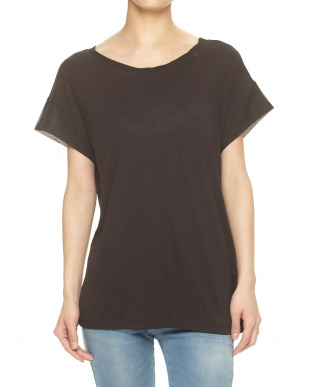 BLACK  KEAL RS JERSEY MIX CHIFFON Tシャツ見る