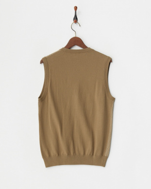 brown  ニット HI-G BIRDS EYE VEST 14G見る