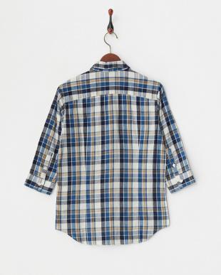 blue  シャツ JB:INDIGO CHK WIRE 7/S 16SS見る