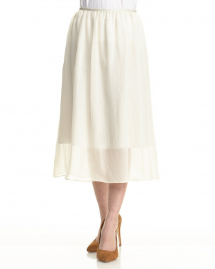 ベージュ21  シアーラメギャザースカート見る