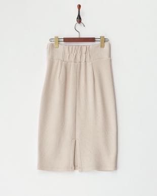 ピンク  シンプルリブタイトスカート見る