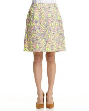 ピンク柄  ジャガードタイトスカート見る