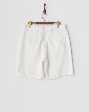 白 W裾ショートパンツ見る