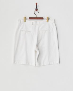 白 バックボタンスルー・ポケットショートパンツ見る