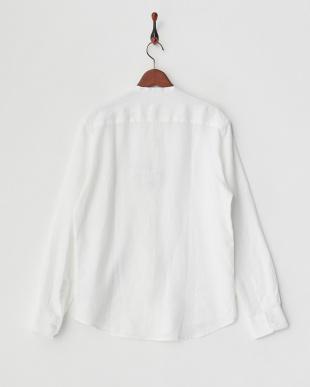 白 バンドカラーシャツ見る