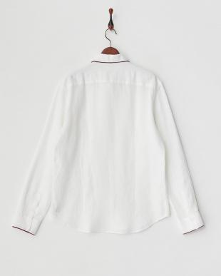白 配色ポイントシャツ見る