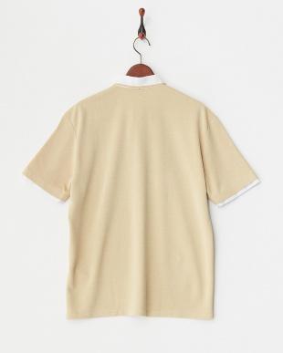 黄色系 レイヤーデザインポロシャツ見る