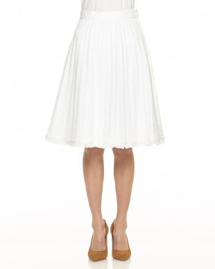 WHITE デニムプリーツスカート見る