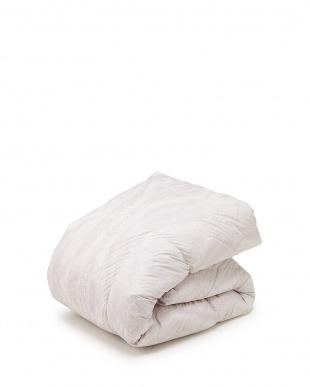 ピンク  ウクライナ産ホワイトダックダウン85% 羽毛 シングルロング 寝具3点セット見る