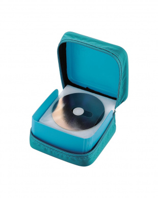グリーン CD/DVD/Blu-rayセミハードケース/60枚収納見る