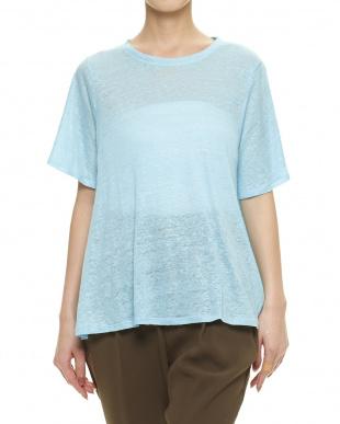 LT.BLUE B:リネンゆるTシャツ見る