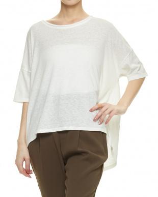 WHITE B:ロールUPルーズTEEシャツ見る