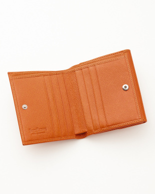 オレンジ  二つ折り財布<Jackie Purse>見る