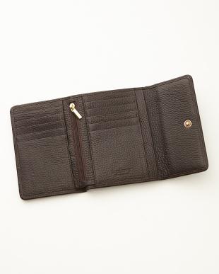 ブラウン  三つ折り財布<Amanda purse>見る