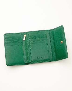 エメラルド  三つ折り財布<Amanda purse>見る