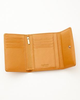 イエロー  三つ折り財布<Amanda purse>見る