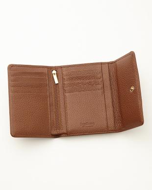 タン  三つ折り財布<Amanda purse>見る
