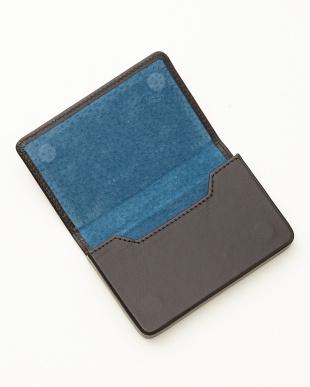 ブラック/コバルト  名刺入れ<Magnetic business card holder>見る